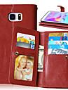 Para Samsung Galaxy Note Carteira / Porta-Cartao / Com Suporte / Flip Capinha Corpo Inteiro Capinha Cor Unica Couro PU SamsungNote 5 /