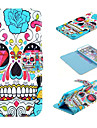For iPhone 6 Case / iPhone 6 Plus Case Wallet / Card Holder / with Stand / Flip / Pattern Case Full Body Case Skull Hard PU LeatheriPhone