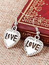 Lureme®  European Style Retro Individuality Hollow Out Peach Heart Love Letter Alloy Earrings