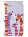 iphone 7 mais cor girafa pintado caixa do telefone pu para o iphone 6s 6 mais se 5s 5c 5 4s 4