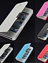 Pour Coque iPhone 5 Clapet Depoli Magnetique Coque Coque Integrale Coque Couleur Pleine Dur Cuir PU pour iPhone SE/5s/5