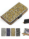 For iPhone 7 7 Plus 6s 6 Plus SE 5s 5 Case Rhinestone / with Stand Glitter Shine Hard PU Leather Case