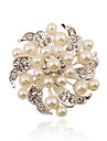 Silver Plating/Imitation Pearls/Rhinestone Brooch Women Fashion Wild Brooch Party /  Daily 1PC