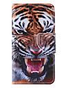 Pour Samsung Galaxy Coque Etuis coque Porte Carte Avec Support Clapet Motif Magnetique Coque Integrale Coque Animal Cuir PU pour Samsung