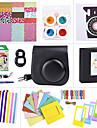 камера аксессуар расслоения набор для мини INSTAX Fujifilm 8 (мини-фильм / мини-8 корпус / наклейка / альбом и т.д. (черный)