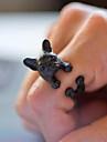 반지 일상 / 캐쥬얼 보석류 합금 여성 문자 반지 1PC,조절가능 블랙