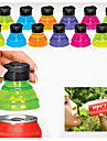Set of 6 Creative Soda Savers Toppers Reusable Bottle Caps Can Convert