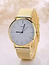 Men's White Case Stainless Steel Band Analog Quartz Wrist Watch Cool Watch Unique Watch