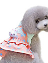 Dog Dress Yellow Dog Clothes Summer / Spring/Fall Polka Dots Fashion