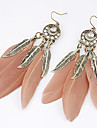 Drop Earrings Feather Alloy Fashion Leaf Feather Jewelry Party Daily Casual 2pcs