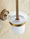 Brown Toilet Brush Holder , Traditional Antique Copper Wall Mounted