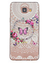 Butterfly Pattern TPU Relief Back Cover Case for Galaxy A3(2016)(Galaxy A3(2016)) / Galaxy A5(2016)(Galaxy A5(2016))