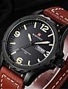 Herren Beobachten Japanischer Quartz Sportuhr Kalender / Wasserdicht Leder Band Armbanduhr