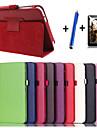 용 스탠드 / 자동 슬립/웨이크 기능 / 플립 케이스 풀 바디 케이스 단색 하드 인조 가죽 Samsung Tab 3 7.0