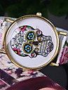 Women's European Style Fashion Printing Color Skull Stretch Bracelet Watch Cool Watches Unique Watches