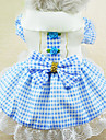 Cat / Dog Dress / Clothes/Clothing Red / Blue / Pink Spring/Fall Bowknot / Plaid/Check Fashion
