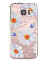 For Samsung Galaxy S7 Edge Embossed Case Back Cover Case Flower TPU Samsung S7 edge / S7