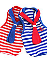 Dog Clothes/Jumpsuit Red / Blue Dog Clothes Spring/Fall Stripe Fashion