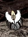 Кольца Мода Для вечеринок Бижутерия Сталь Женский Массивные кольца 1шт,Стандартный размер Черный
