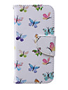 For iPhone 6 Case / iPhone 6 Plus Case Wallet / Card Holder / with Stand / Flip / Pattern Case Full Body Case Butterfly Hard PU Leather