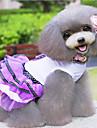 Perros Vestidos Rojo / Morado Ropa para Perro Primavera/Otono Lazo / Lunares Moda