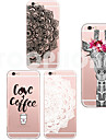 Para Capinha iPhone 5 Ultra-Fina / Transparente / Estampada Capinha Capa Traseira Capinha Desenho Macia TPU iPhone SE/5s/5