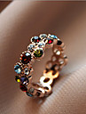 Ring Daily / Casual Jewelry Alloy / Rhinestone Women Statement Rings 1pc,8 Assorted Color