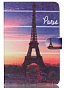 For Samsung Galaxy Case Wallet / Card Holder / with Stand / Flip / Pattern Case Full Body Case Eiffel Tower PU Leather Samsung Tab A 8.0
