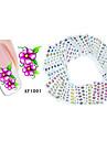 Autocolantes de Unhas 3D - Flor - para Dedo - de Outro - com 50PCS - 15cm x 10cm x 5cm (5.91in x 3.94in x 1.97in)