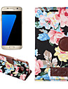 Para samsung galaxy s7 edge s6 edge mais capa capa flores pu couro estofamento de telefone celular para s5 s4 s4 ativo s4 mini s5 mini s3