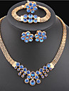 MISSING U Vintage / Party Gold Plated / Alloy / Gemstone & Crystal Necklace / Earrings / Bracelet / Ring Jewelry Sets