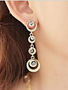 Drop Earrings Hoop Earrings Cubic Zirconia Rhinestone Alloy Screen Color Jewelry 2pcs