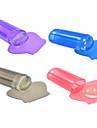 1PCS 새로운 투명 / 퍼플 / 핑크 / 바이올렛 / / 회색 젤리 네일 아트 스탬퍼 스크레이퍼 네일 아트 폴란드어 인쇄 도구 nj115 장미