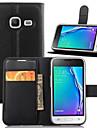 Para Samsung Galaxy Capinhas Carteira / Porta-Cartao / Com Suporte / Flip Capinha Corpo Inteiro Capinha Cor Unica Couro PU SamsungJ5