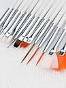 Nail  Salon Drawing / Painting  Tools Kit(White / Pink, 15PCS / Kit)