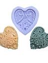 un trou de fleurs a long coeur moule en silicone pour les gateaux