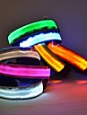 Cat / Dog Collar LED Lights / Adjustable/Retractable Red / Green / Blue / Yellow Nylon
