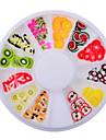 Joias de Unhas-Adoravel- paraDedo- deAcrilico- com1wheel fruit fimo nail decorations-6cm wheel- (cm)