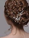 perle d\'argent bijoux pince strass de cheveux des femmes pour la fete de mariage