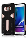 Pour Samsung Galaxy Note Antichoc Avec Support Coque Coque Arriere Coque Armure Polycarbonate pour Samsung Note 5 Note 4 Note 3