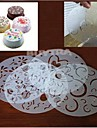 Cake Decorating Stencil Mould Icing Fondant Spray Print Sugar Round Reusable PVC