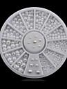 러블리-핑거-네일 쥬얼리-아크릴-1wheel white pearls nail decorations-6cm wheel