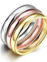 Кольцо Сталь Мода Розовый Бижутерия Повседневные 1 комплект