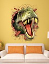 3D Dinosaur Wall Stickers Decals For Kids Rooms Art For Baby Nursery Room Christmas Gift Decoration Kids Cartoon Poster