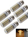 5W E14 / E26/E27 LED лампы типа Корн T 72 SMD 5730 300 lm Тёплый белый / Холодный белый Декоративная AC 220-240 / AC 110-130 V 6 шт.