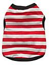Dog Shirt / T-Shirt Red / Black / Blue Summer Stripe / Hearts Zebra