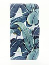 Banana Leaf Pattern PU Leather Full Body Case with Stand and Card Slot for iPhone 6s Plus 6 Plus 6s 6 SE 5s 5