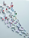 Animals Butterfly Wall Stickers  Romance / Fashion / Florals / Shapes / 3D Wall Stickers 3D Wall Stickers,pvc 15*15cm