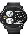 Hombre Reloj de Pulsera Cuarzo LED / Calendario / Cronografo / Resistente al Agua / Dos Husos Horarios / alarma PU Banda Negro Marca-