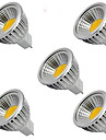 5W GU5.3(MR16) LED-spotlights MR16 1 COB 400LM lm Varmvit / Kallvit DC 12 V 5 st